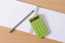 筆記用具と電卓