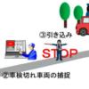 車検切車両を捕捉(街頭検査「ナンバー読取装置」試行運用)
